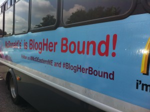 McDonald's Host Boston Parent Bloggers on Bus to BlogHer